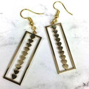 3/$15 Geometric Heart Dangle Earrings